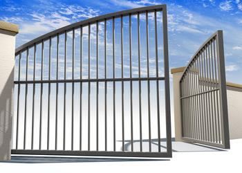 La pose d'un portail